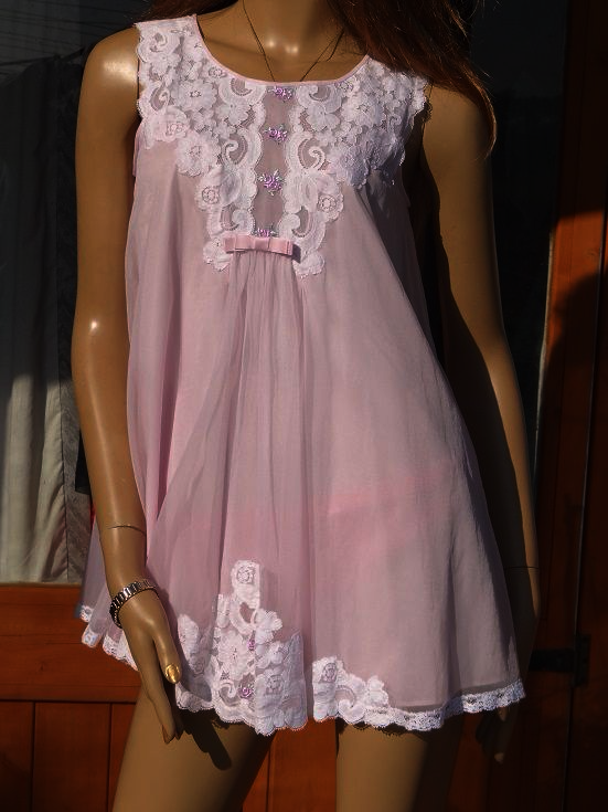Vintage Quot Shadowline Quot Baby Doll Nightie Amp Negligee Set Size